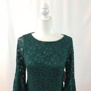 Dark green lace dress (#152)